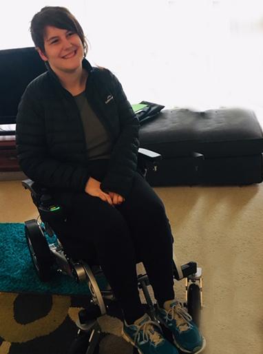 Nikki with Freedom Chair DE08
